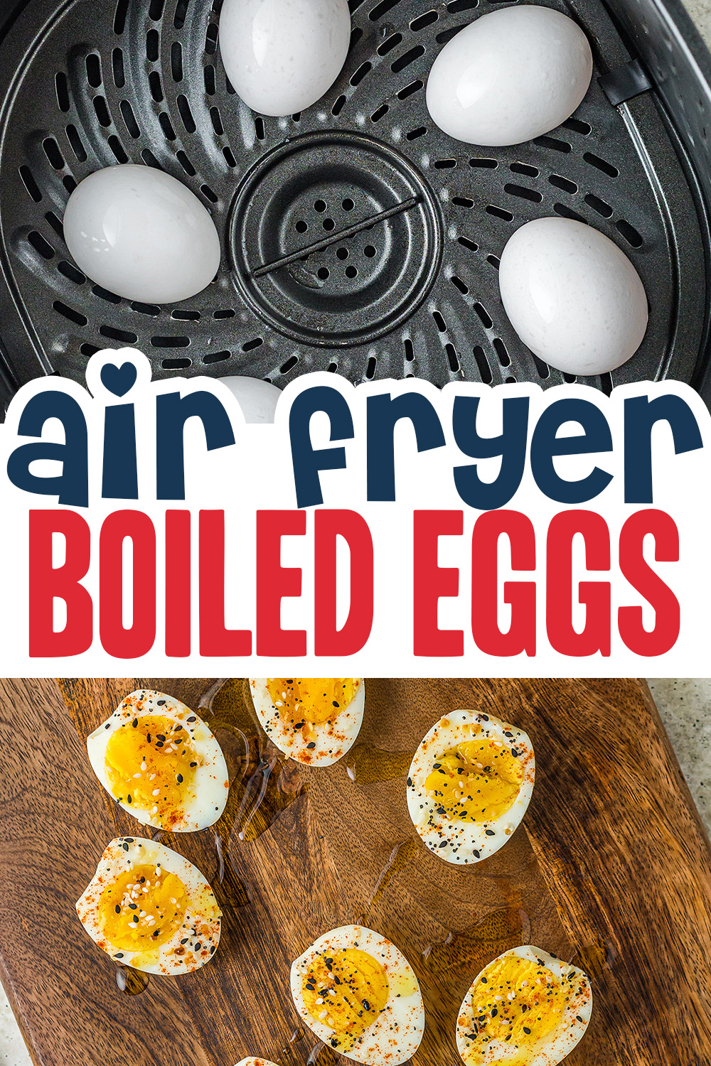 The easiest way to make boiled eggs is in your air fryer.  Period.
