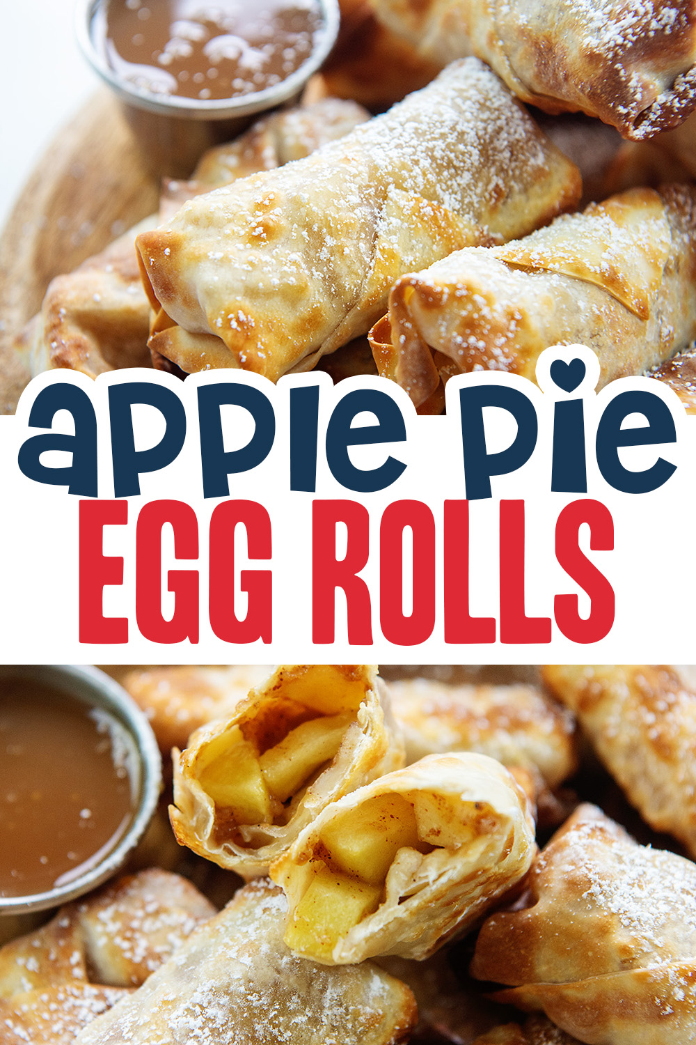 Try this apple pie egg roll recipe for a unique dessert that is easy to make but very unique!