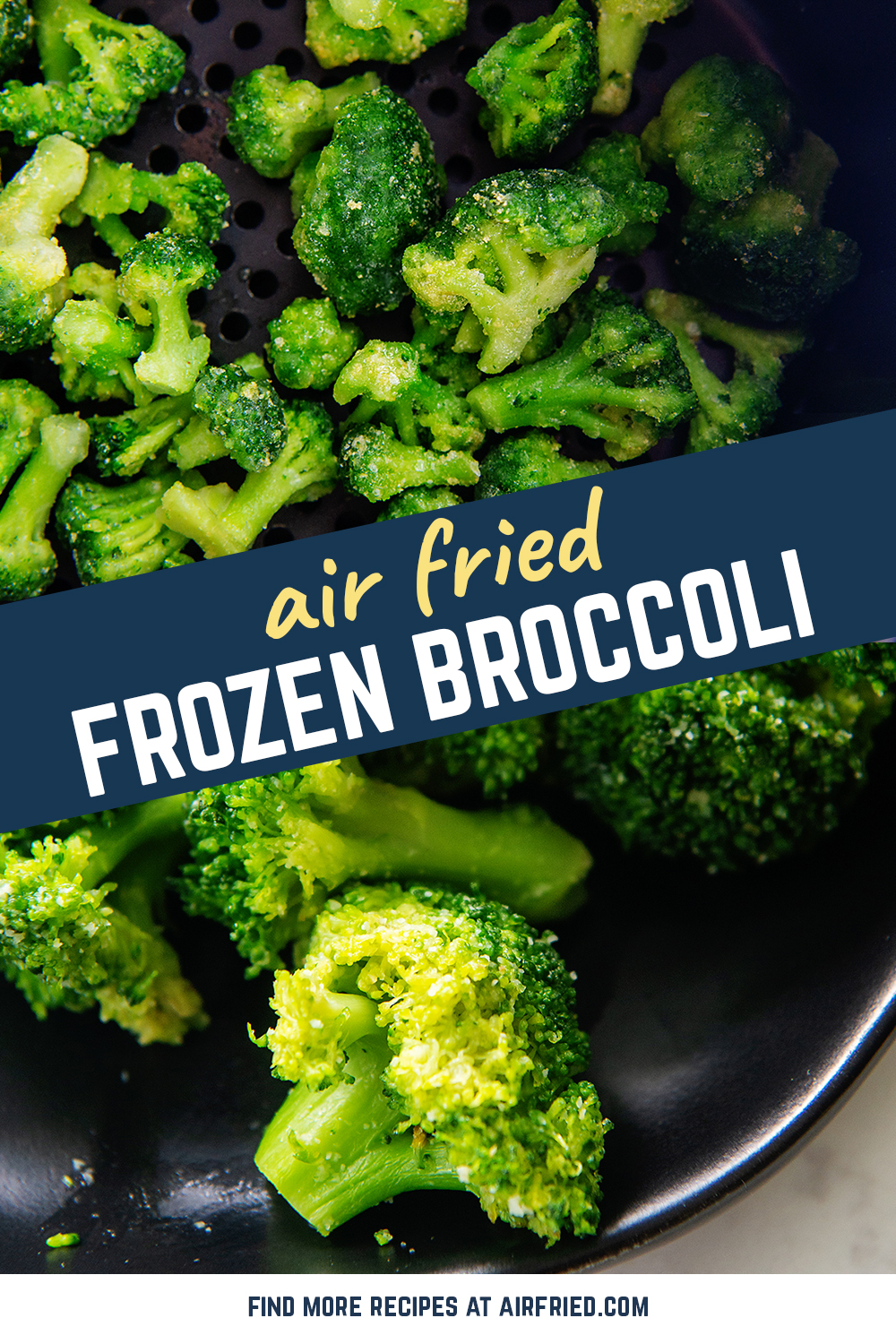 This recipe for cooking frozen broccoli works really well.  No need to thaw it!