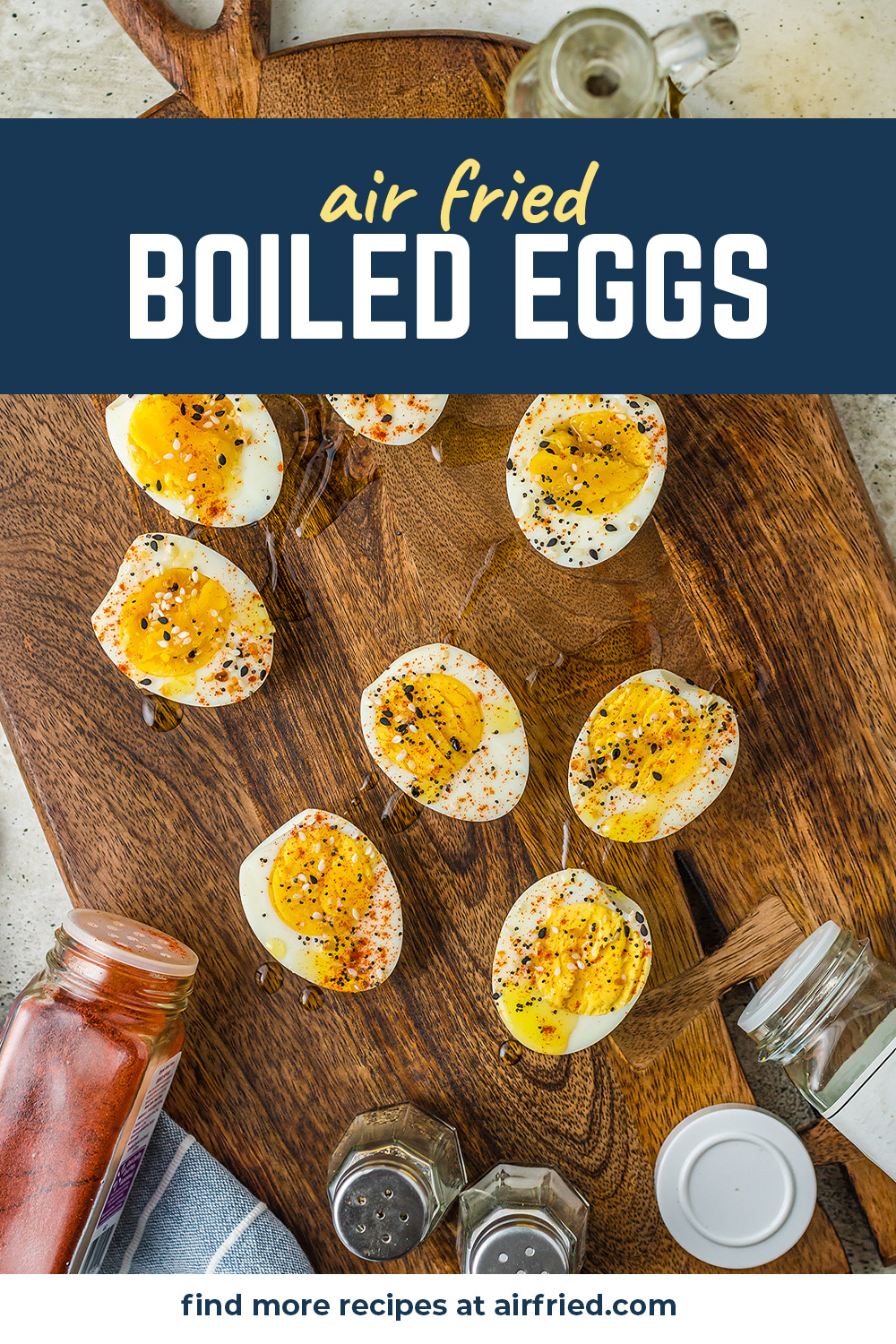 The air fryer is a great way to boil your eggs if you like to control how well done they are.