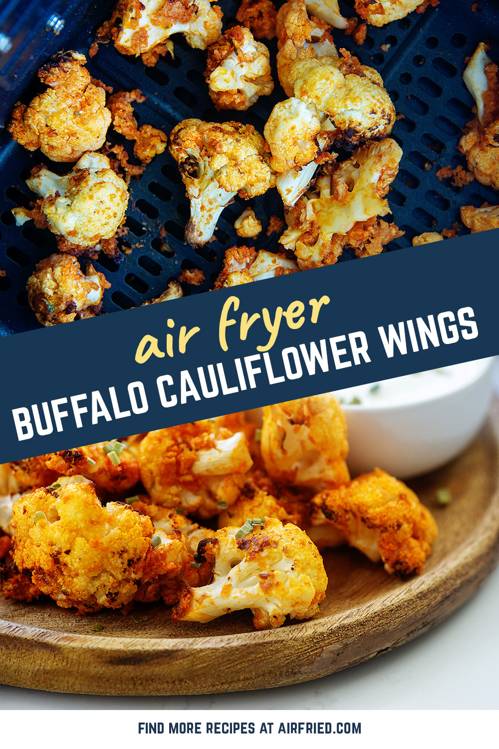 This buffalo cauliflower is a vegetarian alternative to buffalo wings, and they are on point!  You will love these!
