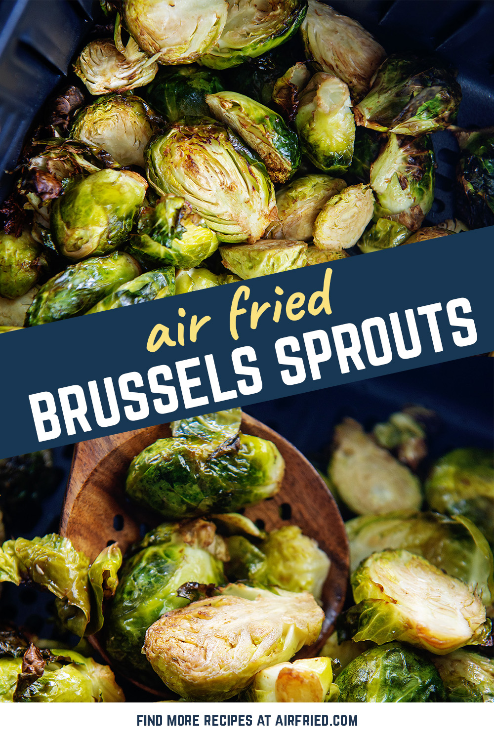 Crispy, seasoned brussels sprouts are really easy to cook and clean up in the air fryer.