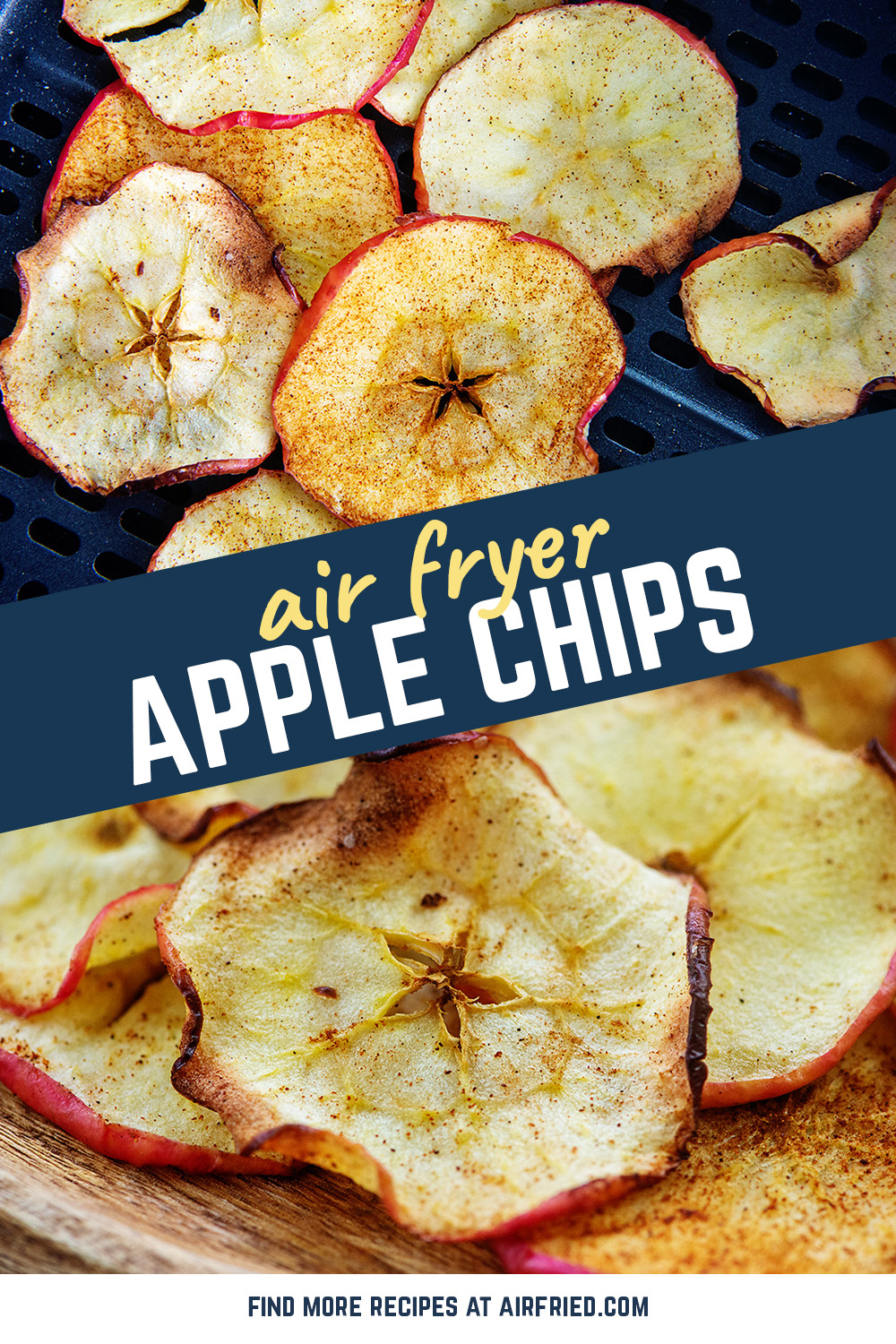These fresh cinnamon apple chips only take ten minutes to cook!  They are a great mid day snack!