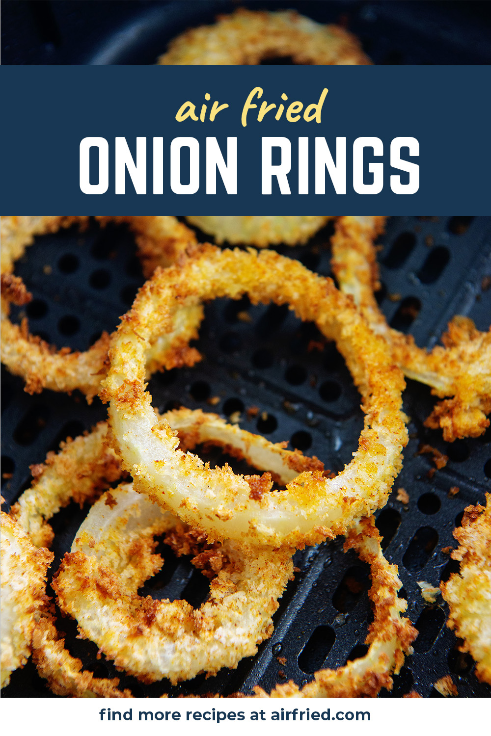 You need to try these crispy, crunchy, healthier onion rings in the air fryer!