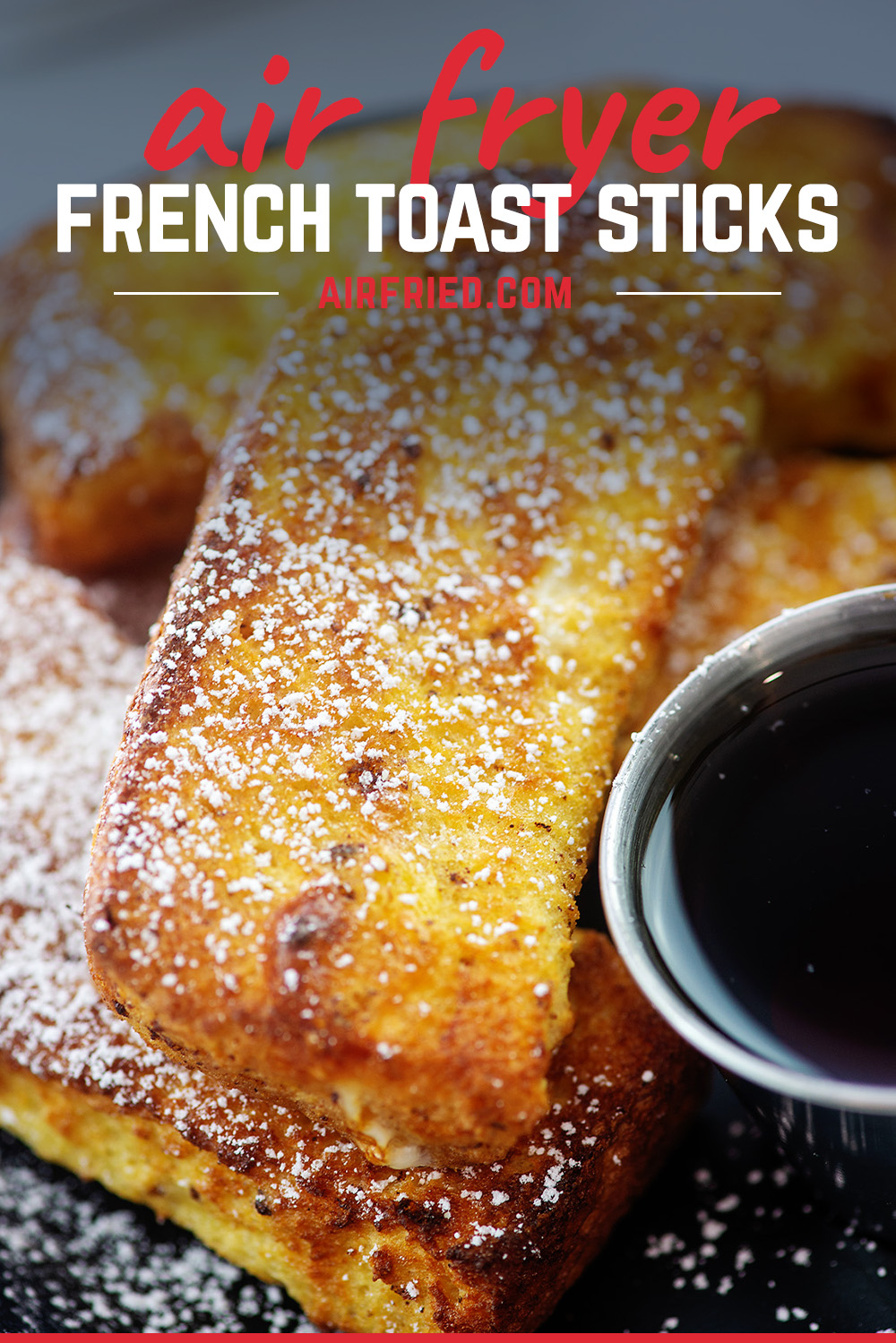 Close up of a pile of French toast sticks