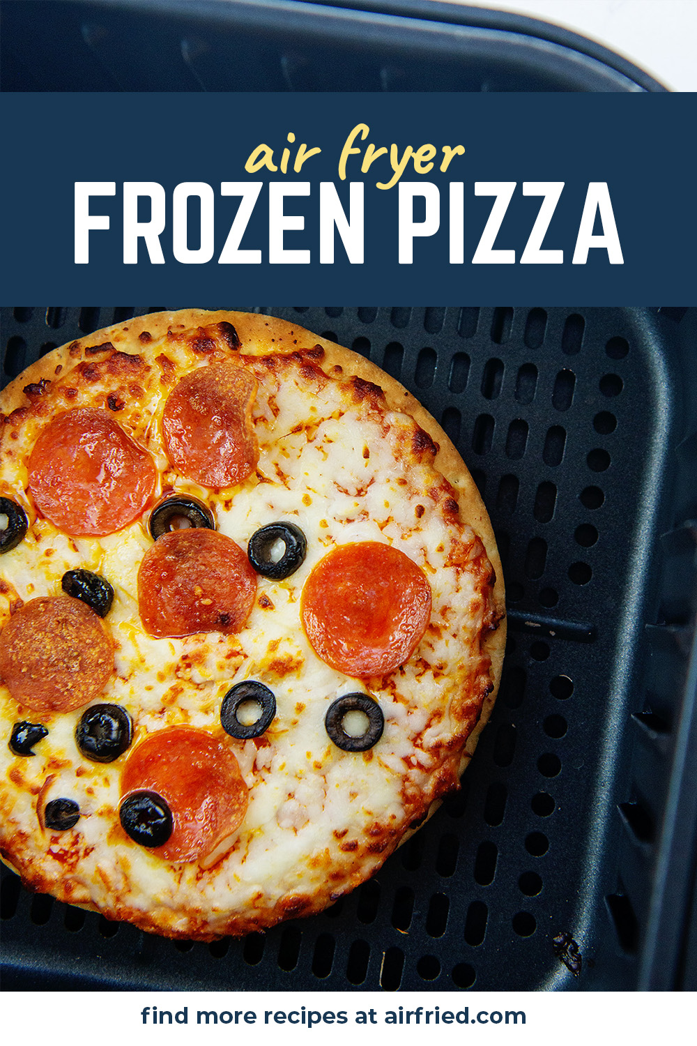 The air fryer is a perfect way to cook a personal pizza!