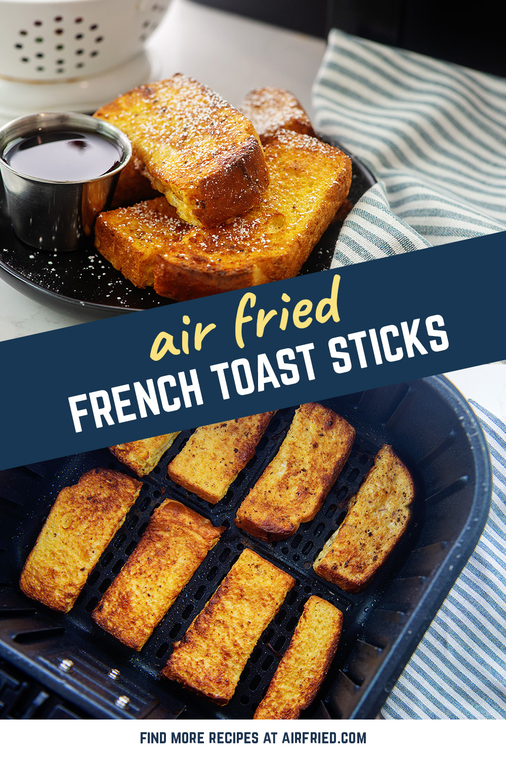 Try out your air fryer with this French toast stick recipe!
