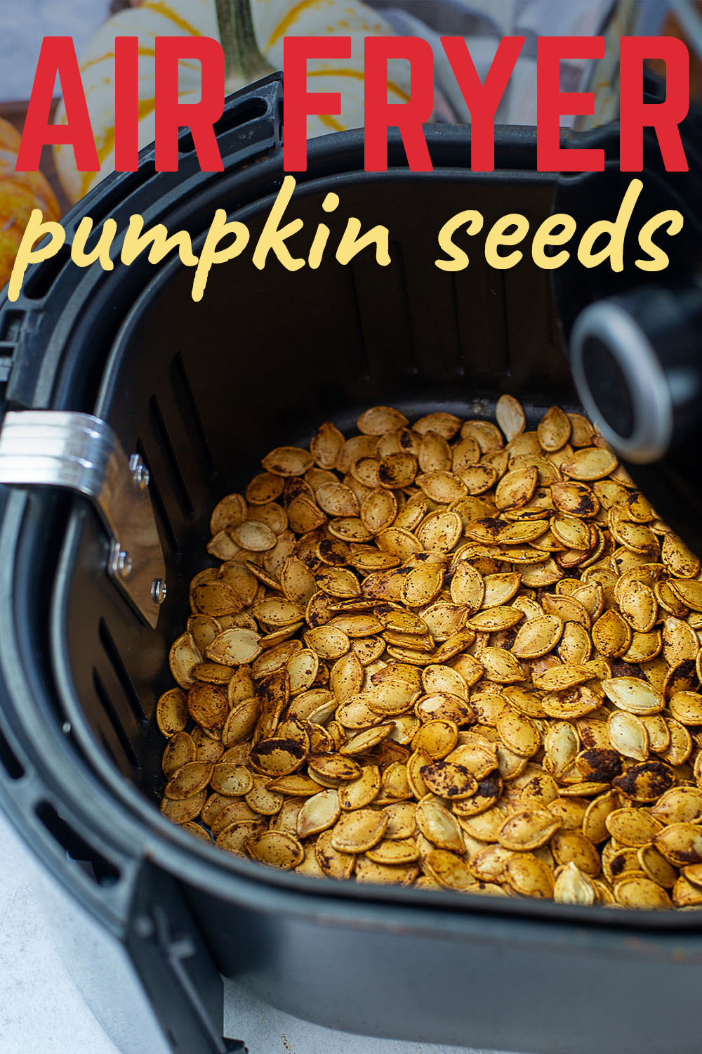 These easy to make pumpkin seeds are great any time, but they make you feel good too after a day of pumpkin carving!