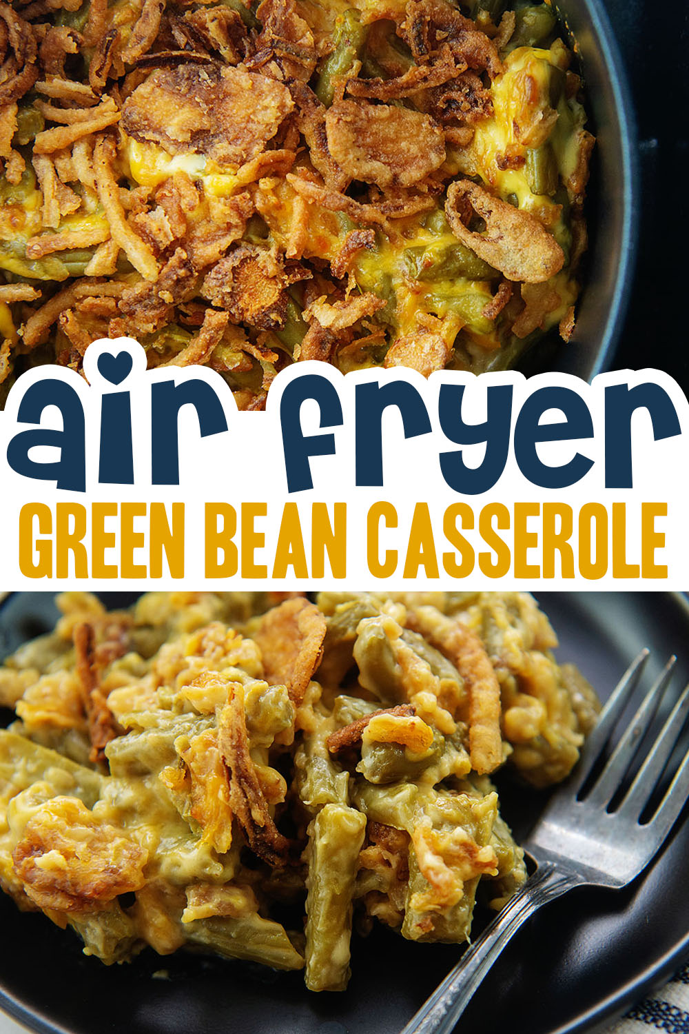 This green bean casserole is so good it can easily be a main dish instead of a side dish.  I can't get enough of it!