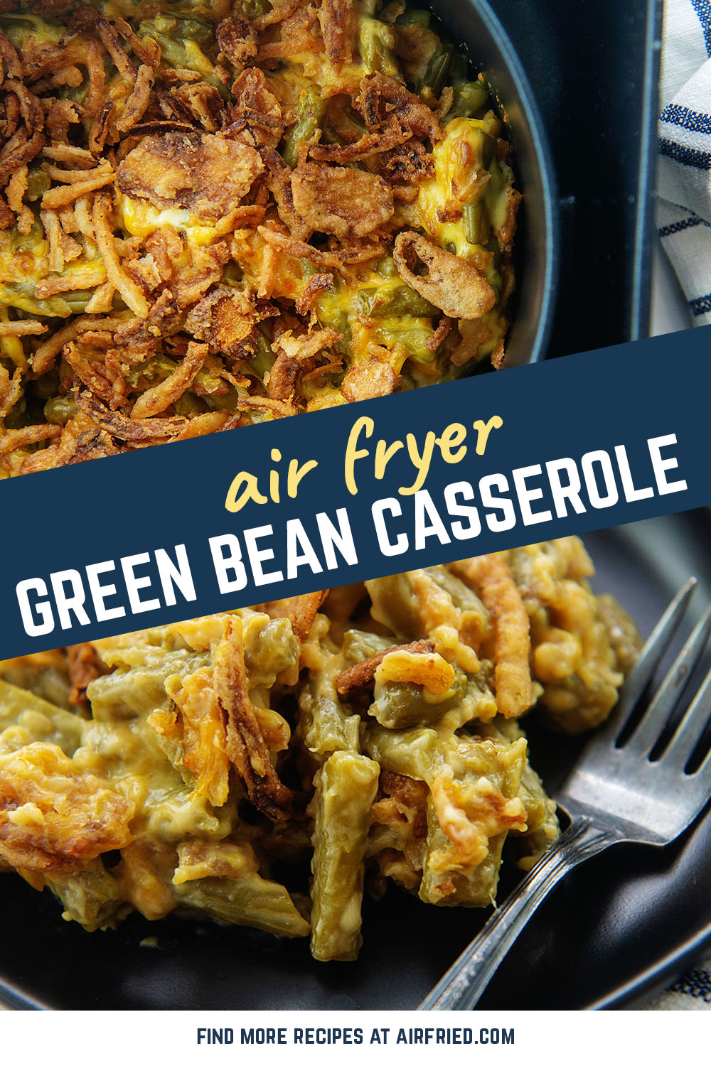 This green bean casserole just might be my new favorite side dish.  I have even eaten this as an entire meal!