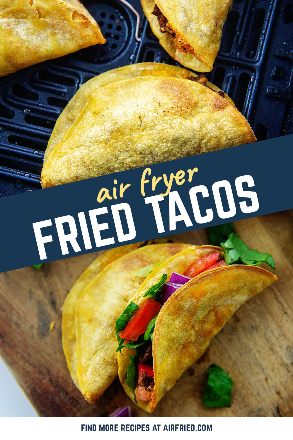 These air fryer fried tacos are much easier to make than a regular fried taco.  Healthier too!