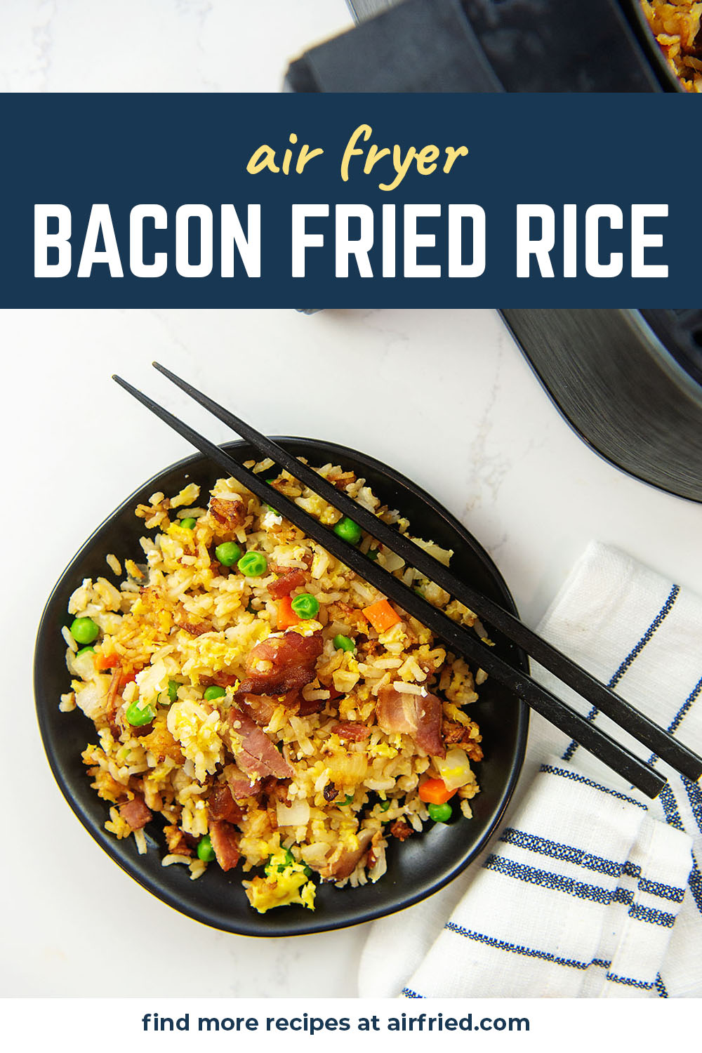 We tried making our fried rice in the air fryer and it worked really well!  It was nice to cook everything in the basket then just dump it out on our plates!